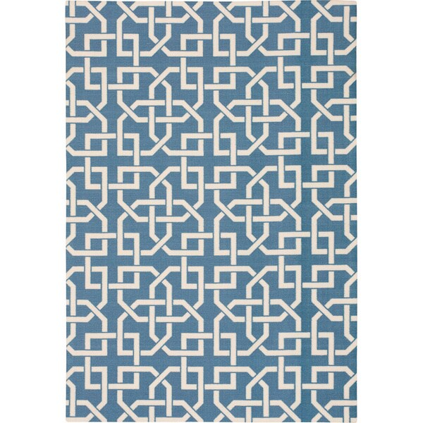 Nourison Home and Garden Indoor/Outdoor Navy Rug (10 x 13) - 10' x 13'