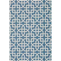 Nourison Home and Garden Indoor/Outdoor Navy Rug (10 x 13) - 10' x 13'