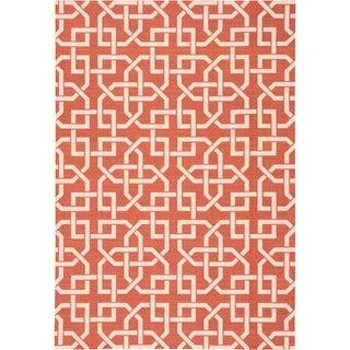 Nourison Home and Garden Indoor/Outdoor Rust Rug (10 x 13)