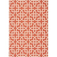 Nourison Home and Garden Indoor/Outdoor Rust Rug - 10' x 13'