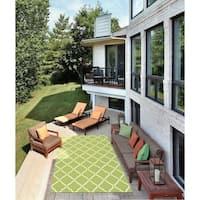 Nourison Home and Garden Indoor/Outdoor Light Green Rug - 10' x 13'
