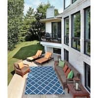 Nourison Home and Garden Indoor/Outdoor Navy Rug - 10' x 13'
