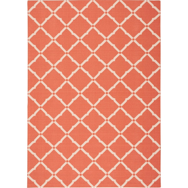 Nourison Home and Garden Indoor/Outdoor Orange Rug - 10' x 13'