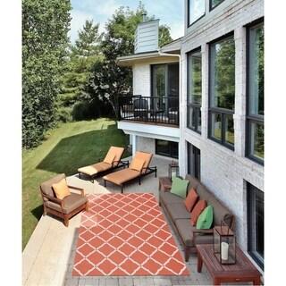 Nourison Home and Garden Indoor/Outdoor Orange Rug (10' x 13')