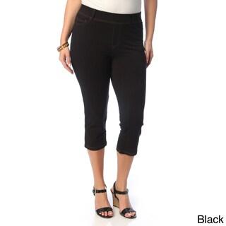 La Cera Women's Plus Size 5-pocket Denim Capri Pants (More options available)