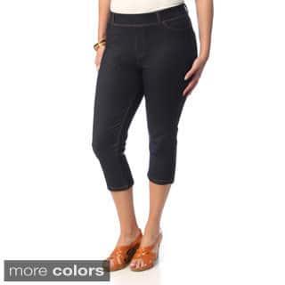 La Cera Women's Plus Size 5-pocket Denim Capri Pants https://ak1.ostkcdn.com/images/products/8914814/La-Cera-Womens-Plus-Size-5-pocket-Denim-Capri-Pants-P16132412.jpg?impolicy=medium