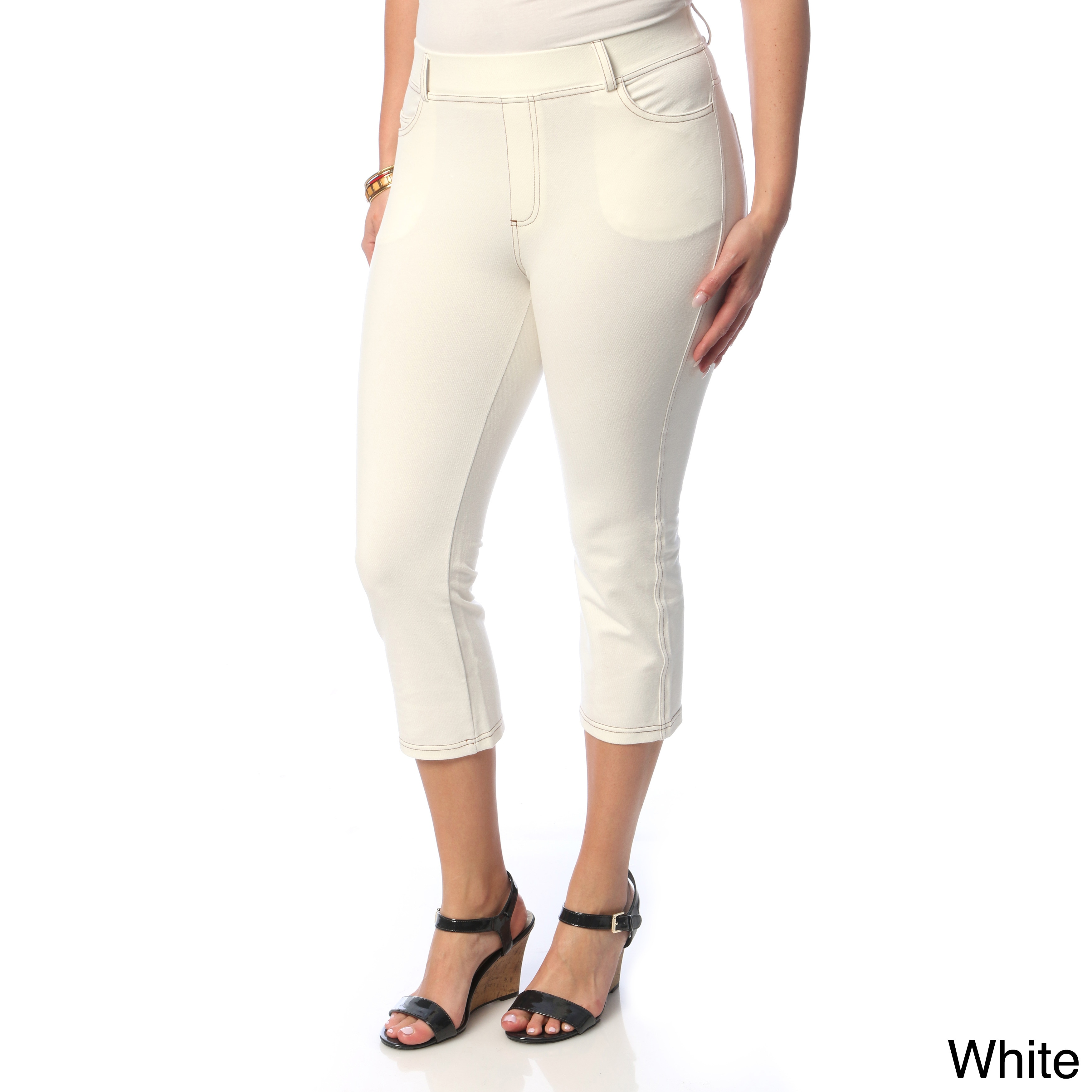 High-Waisted 3X Women/'s Easy-Fit Knit Denim Pants