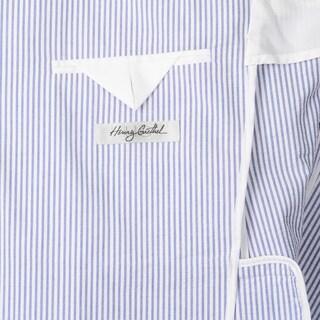 Palm Beach Men's Navy/ White Seersucker 2-button Double Vent Jacket