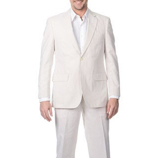 Palm Beach Men's Tan/ White 2-button Double Vent Jacket