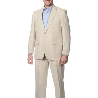 Palm Beach Men's 2-button Double Vent Natural Linen Suit Jacket