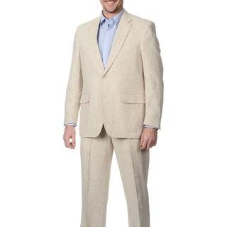 Palm Beach Men's 2-button Single Vent Natural Suit Jacket (3 options available)
