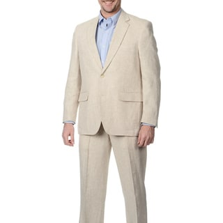 Palm Beach Men's 2-button Single Vent Natural Suit Jacket
