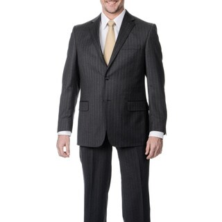 Palm Beach Men's Grey Stripe Single Vent 2-button Jacket