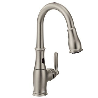 Shop Moen Etch S72608srs Spot Resist Stainless Steel Kitchen Faucet