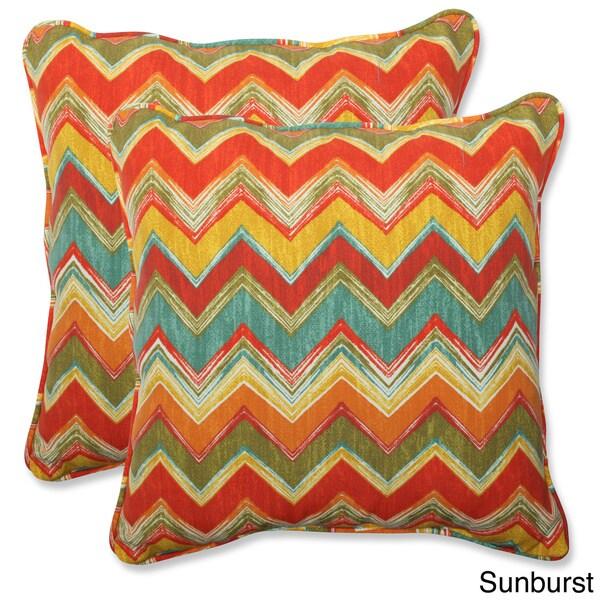 Pillow Perfect Outdoor Tamarama 18.5-inch Throw Pillow (Set of 2)