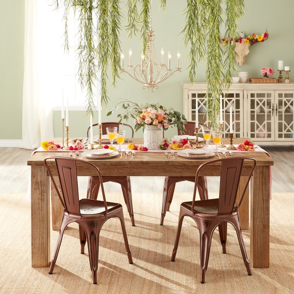 Signature Design By Ashley Mestler Bisque Honey Pine Rectangular Dining Room  Table   Free Shipping Today   Overstock.com   16132530