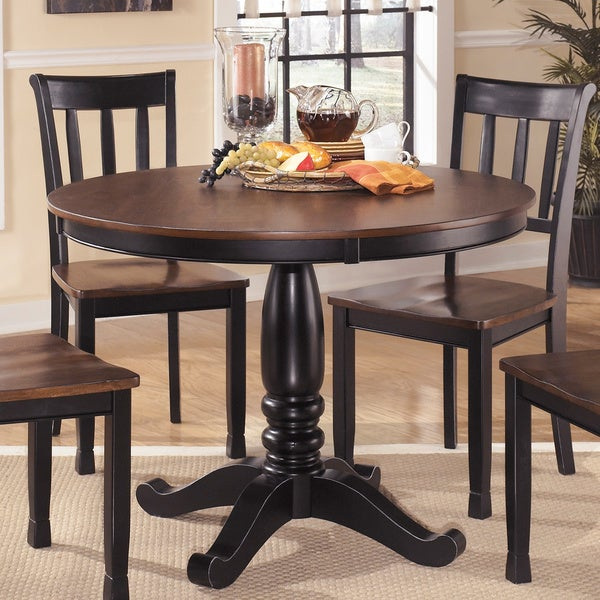 Make A Dining Room Table: Shop Signature Design By Ashley Round Dining Room Table