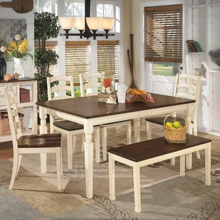 Signature Design by Ashley 'Whitesburg' Large Two-tone Dining Room Bench