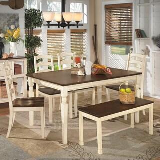 Ashley Signature Design Whitesburg Two-tone Large Dining Room Dining Bench