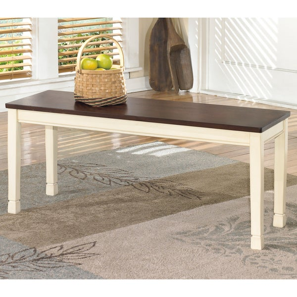 Signature Design By Ashley Whitesburg Large Two Tone Dining Room Bench