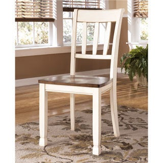 Signature Design by Ashley 'Whitesburg' Two-tone Dining Room Dining Chair (Set of 2)