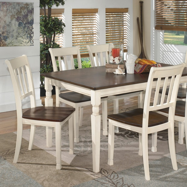 Signature Design By Ashley U0027Whitesburgu0027 Two Tone Dining Room Dining Chair ( Set Of 2)   Free Shipping Today   Overstock.com   16132559