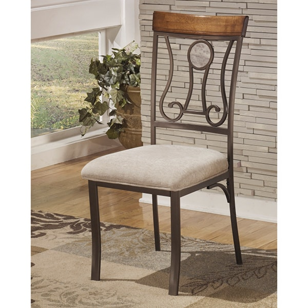 Upholstered Dining Chair Parsons Armless Brown Design: Shop Signature Design By Ashley Hopstand Brown Dining