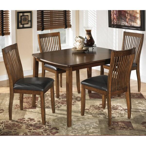 Ashley Furniture Hyland 5 Piece Dining Set With: Signature Design By Ashley Stuman Medium Brown 5-piece