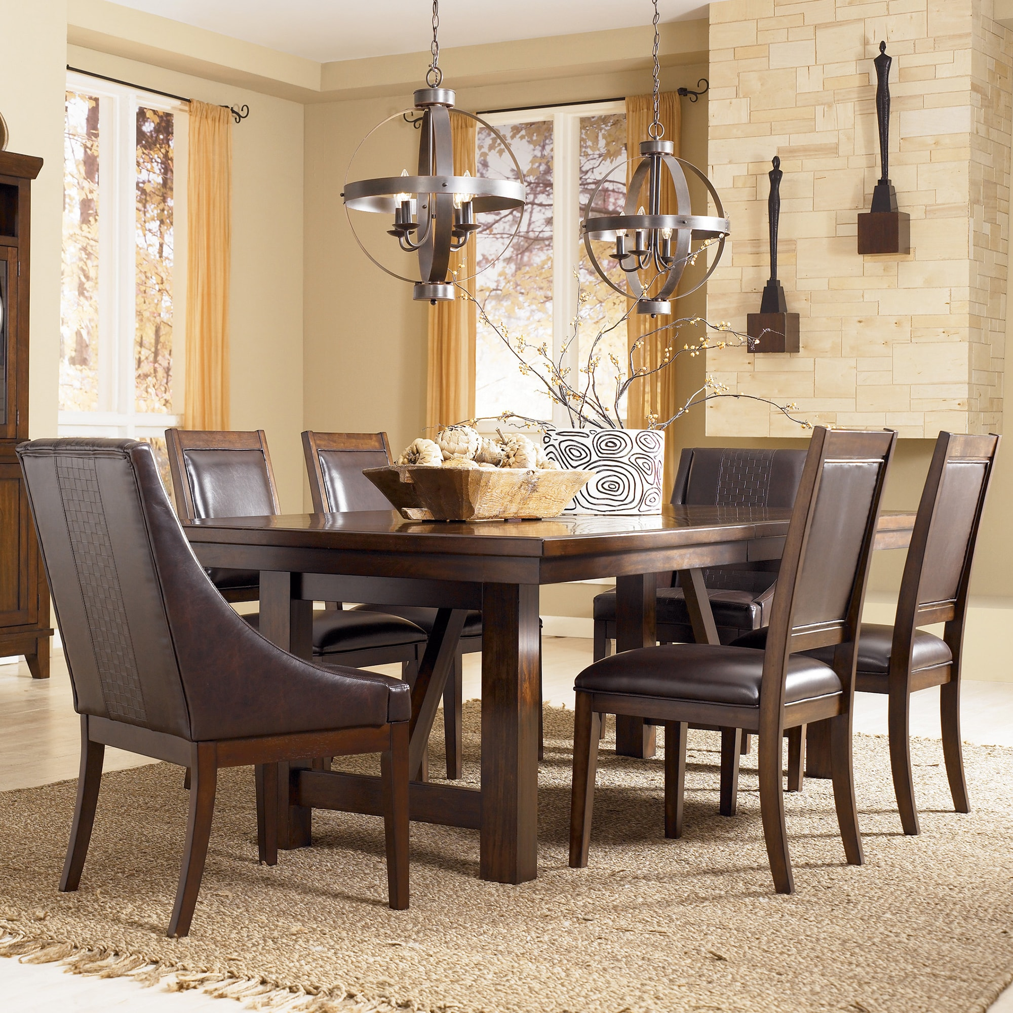 Signature Design By Ashley Holloway Brown Dining Room Extension Table