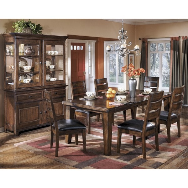 Signature Design By Ashley U0027Larchmontu0027 Dark Brown Dining Room Buffet And  Hutch   Free Shipping Today   Overstock.com   16132573