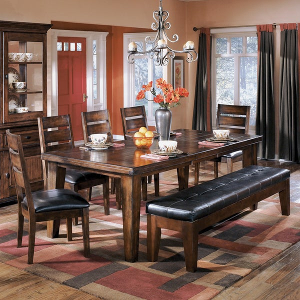 Signature Design By Ashley Larchmont Dark Brown Dining