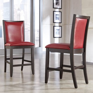 Signature Design by Ashley Trishelle Red Upholstered Barstool Red (Set of 2)