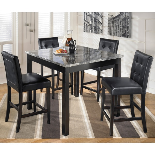 Kitchen Dining Room Sets Signature Design By Ashley X27 Maysville Square Black Grey