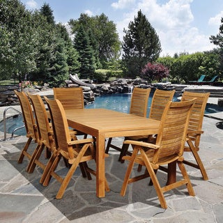 Amazonia Teak Stephanie 9-piece Teak Outdoor Dining Set