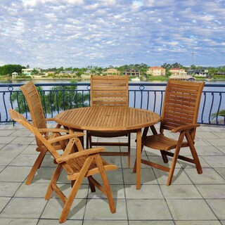 Amazonia Teak Linda 5-piece Teak Outdoor Dining Set