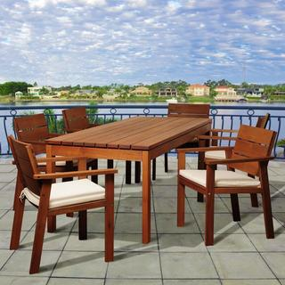 Amazonia Susan 7-piece Wood Outdoor Dining Set