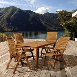 Amazonia Teak Cindy 5-piece Teak Outdoor Dining Set