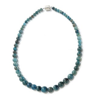 Sterling Silver Apetite Graduated Bead Necklace (20-inch)