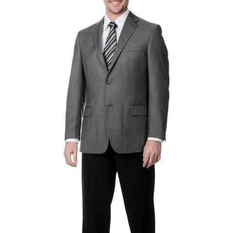 Palm Beach Men's Big & Tall Grey Single Vent Jacket