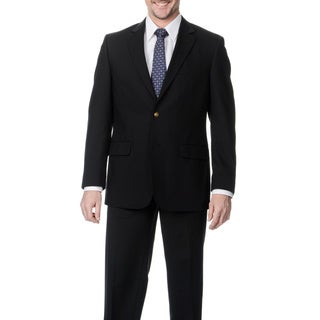 Palm Beach Men's Big & Tall Long Black Single Vent Jacket