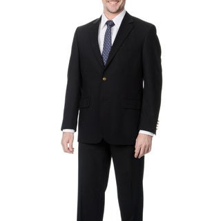 Palm Beach Men's Big & Tall Black Single Vent Jacket
