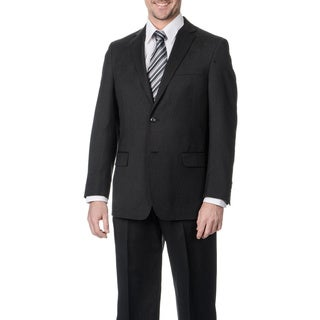 Palm Beach Men's Big & Tall Long Charcoal Wool Single Vent Jacket
