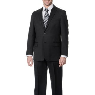 Palm Beach Men's Big & Tall Charcoal Wool Single Vent 2-button Jacket