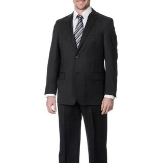 Palm Beach Men's Big & Tall Charcoal Wool Single Vent 2-button Jacket