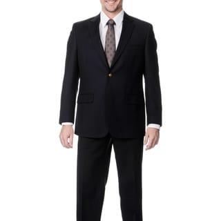Palm Beach Men's Big & Tall Long Navy Single Vent Jacket