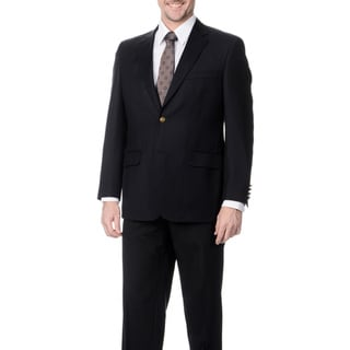 Palm Beach Men's Big & Tall Navy Wool Single Vent Jacket
