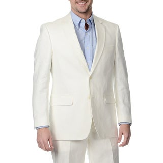 Palm Beach Men's Big & Tall Long Oyster Linen Double Vent Jacket