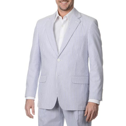 Palm Beach Men's Big & Tall 2 Button Sharkskin Jacket