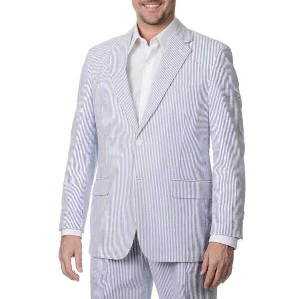 Palm Beach Men's Big & Tall 2 Button Sharkskin Jacket. Opens flyout.