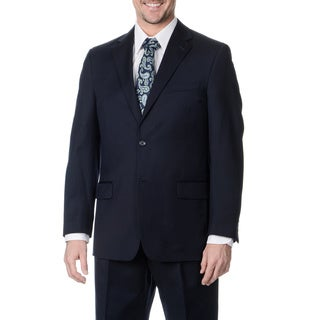 Palm Beach Men's Big and Tall Long 2-button Navy Suit Jacket